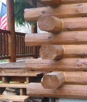 A for How to build a butt and pass log cabin